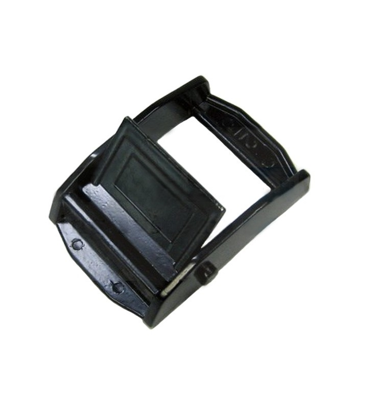 Musketonhaak rechthoekig 38 mm zwart