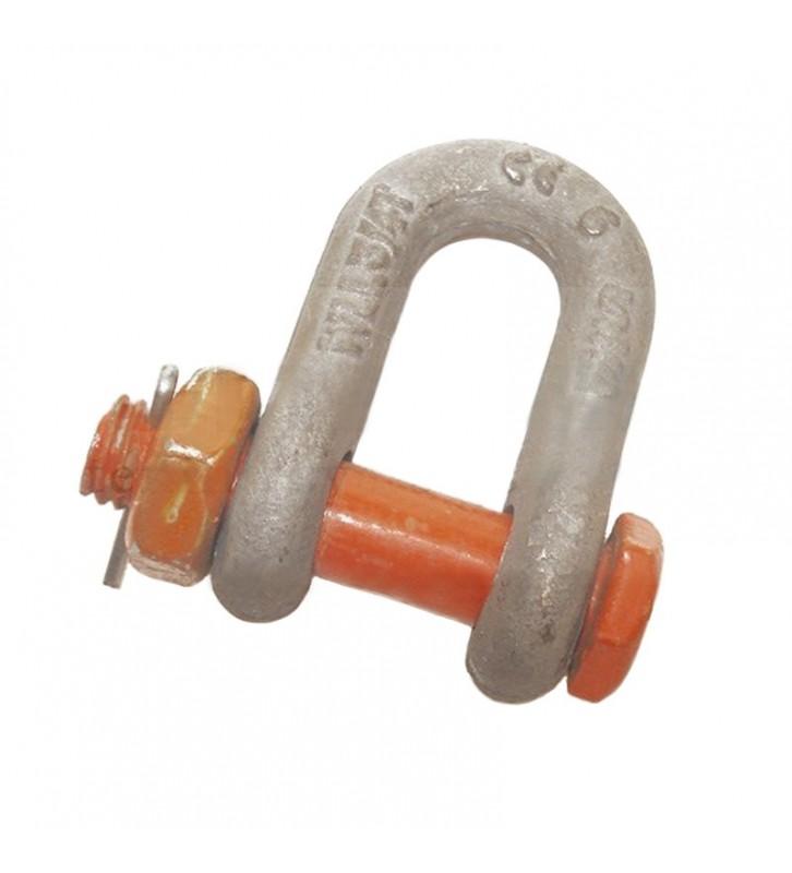 D-sluiting gecertificeerd met splitpen - 9500