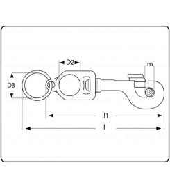 Musketon met ring, opening 7,5mm vernikkeld