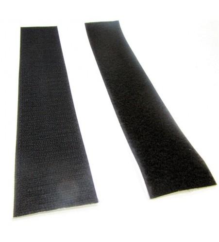 Zwart klittenband 50 mm complete set- 25 meter
