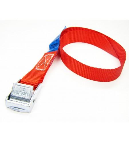Spanbandje 20 mm - 40 cm rood met klemsluiting