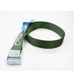 Spanbandje 20 mm - 40 cm groen met klemsluiting