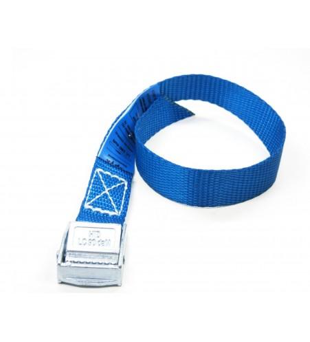 Spanbandje 20 mm - 40 cm blauw met klemsluiting