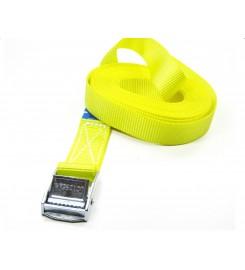 Spanband 25 mm - 6 meter geel