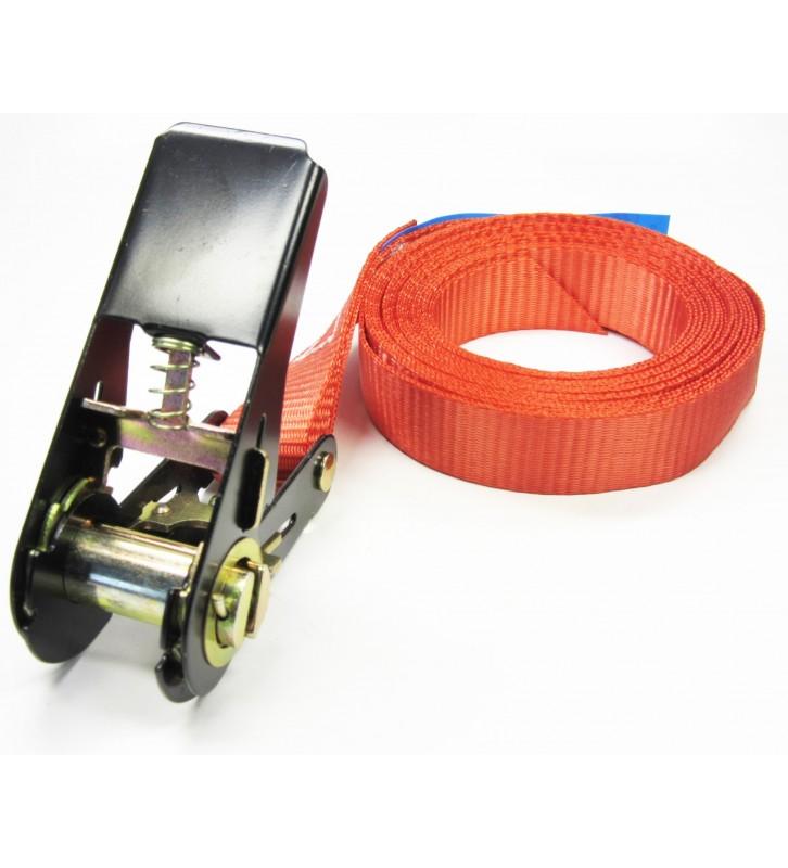 Eindloze rode spanband 800 kg - 6 meter.
