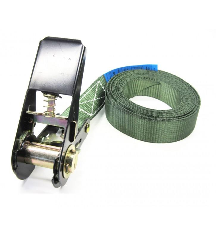 Eindloze spanband 25 mm groen - 5 meter