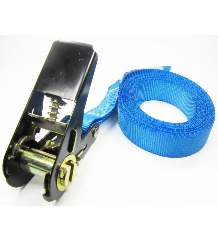 Eindloze spanband 25 mm blauw - 4 meter