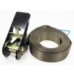 Eindloze spanband 25 mm bruin - 5 meter