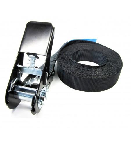 Eindloze spanband 25 mm zwart - 5 meter