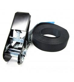 Eindloze spanband 25 mm zwart - 6 meter