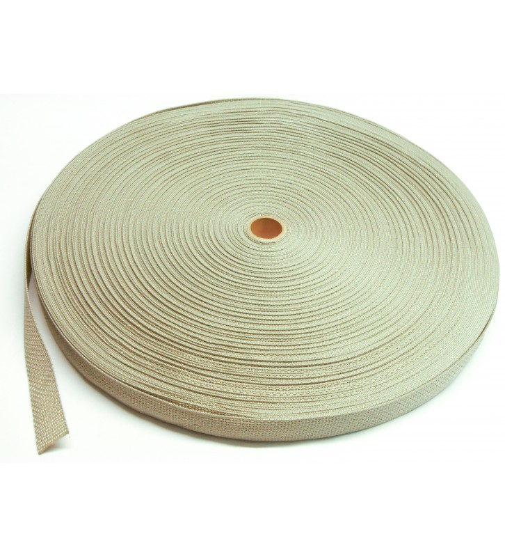 Los band 25 mm grijs - 50 meter rol