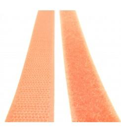 Oranje klittenband 20 mm complete set 25 meter