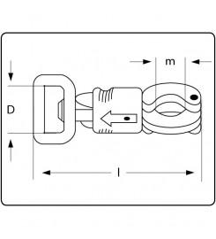 Technische tekening stalen paniekhaak