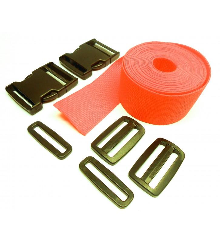 Complete set band en gespen 50 mm oranje
