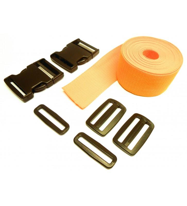 Complete set band en gespen 50 mm geel