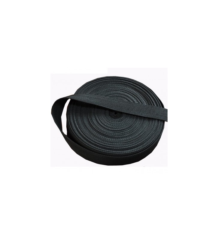 Los band 20 mm zwart per rol