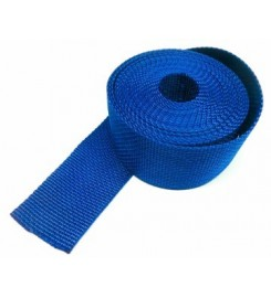 Los band 25 mm donkerblauw - 50 meter rol