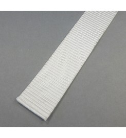 Wit band 25 mm op 100 meter rol