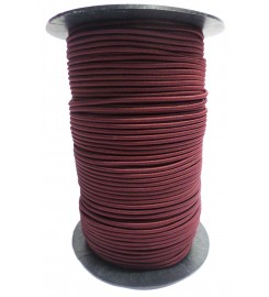 Shockcord bordeaux 3 mm per rol (150 meter)
