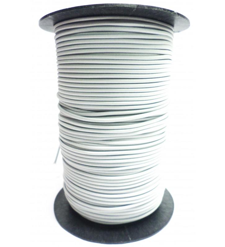 Elastiekkoord lichtgrijs 3 mm per rol (150 meter)