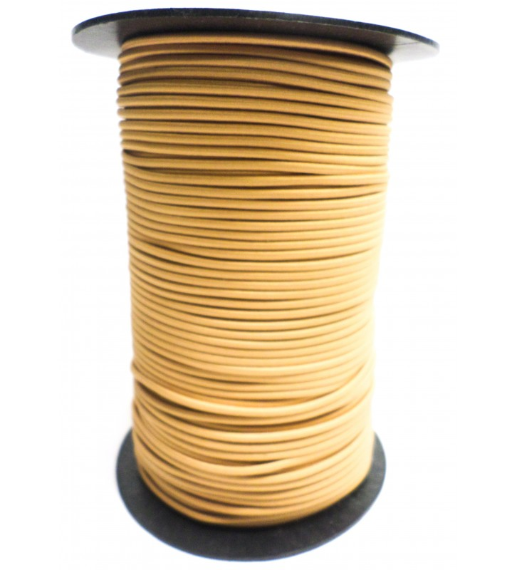 Shockcord okergeel 3 mm per rol (150 meter)