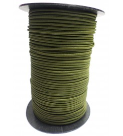 Shockcord olijfgroen 3 mm per rol (150 meter)