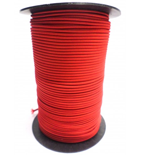 Shockcord rood 3 mm per rol (150 meter)