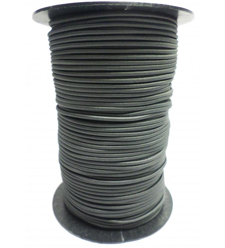 Koordelastiek antraciet 3 mm per 10 meter