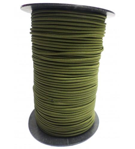 Shockcord olijfgroen 3 mm per 10 meter
