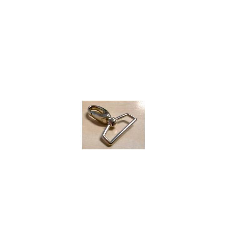 Musketonhaak 32 mm rechthoekige wervel - 52 mm lengte