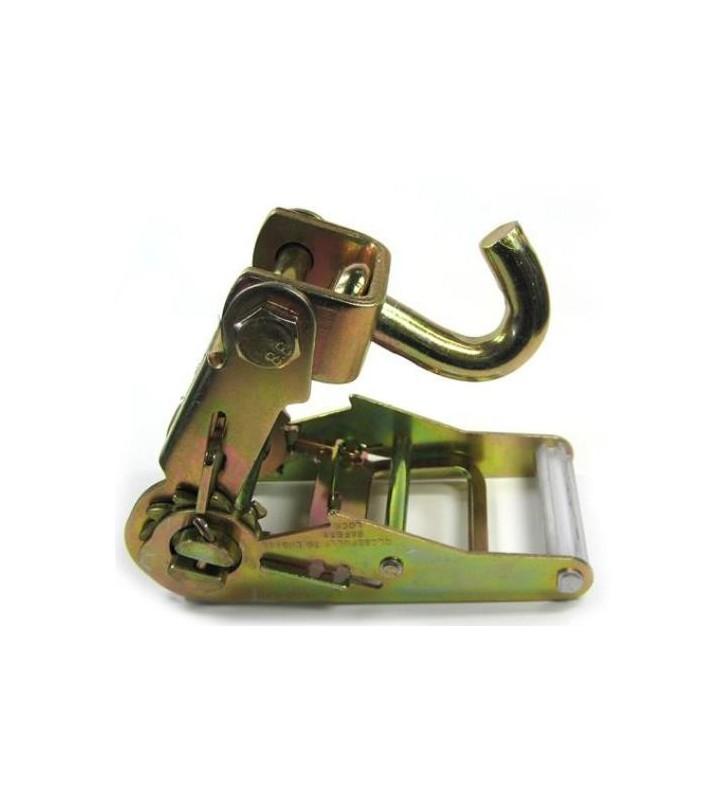 Spanratel 50 mm met draaihaak en smalle handgreep
