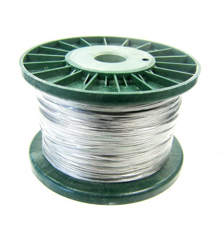 Rvs staaldraad geplastificeerd 1 mm volle rol 250 meter