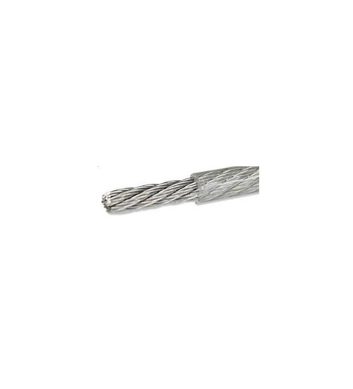 Geplastificeerd Rvs staaldraad 3/4 mm per 25 meter