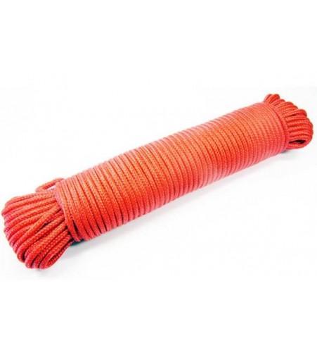 Rood touw 4 mm - 30 meter bundel