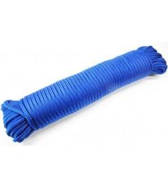 Blauw touw 4 mm - 30 meter bundel