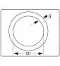 Ronde ring verzinkt 40 x 9 mm tekening
