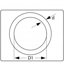 Ronde ring vernikkeld 20 x 3 mm tekening