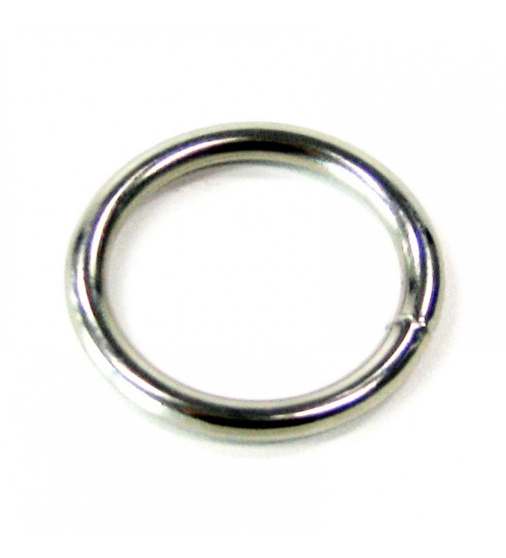 Ronde ring vernikkeld 25 x 3,5 mm