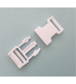 Kunststof gespsluitingen wit 20 mm
