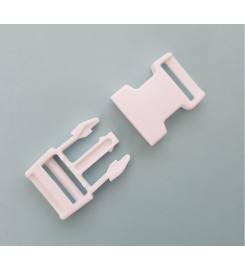 Kunststof gespsluitingen wit 25 mm