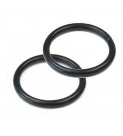 Zwarte ringen 20 x 3 mm per 100 stuks
