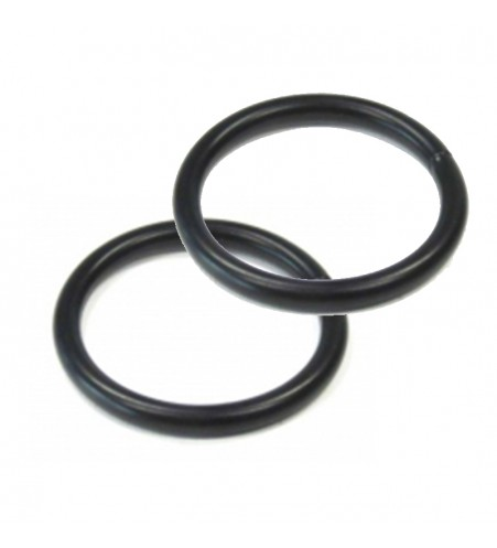 Zwarte ronde ring 20 x 3 mm per 100 stuks