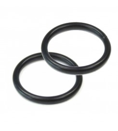 Zwarte ringen 25 x 3.2 mm per 100 stuks