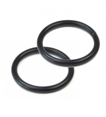 Zwarte ronde ring 25 x 3.2 mm per 100 stuks