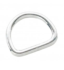 D-ring 16 mm vernikkeld