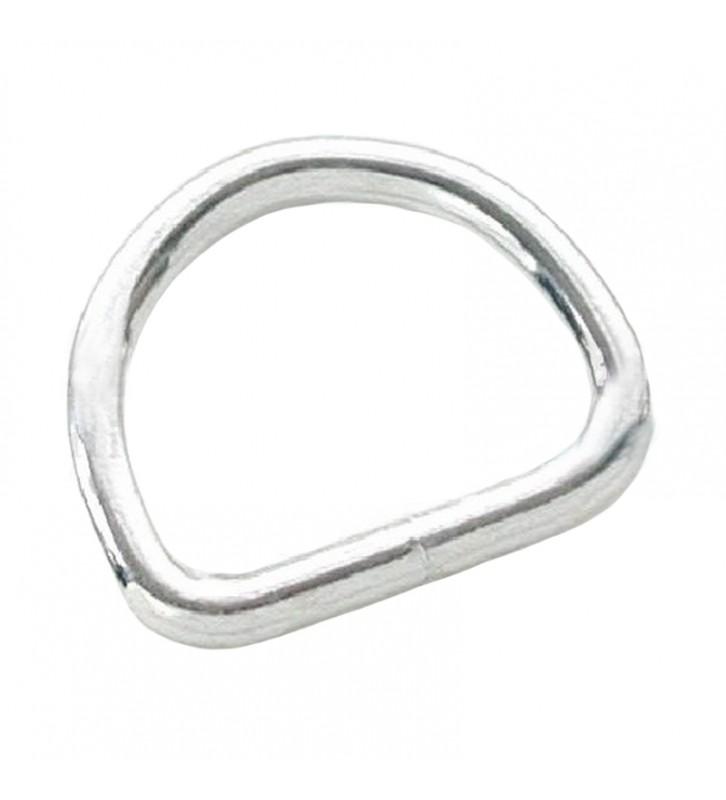 D-ring 16 mm vernikkeld