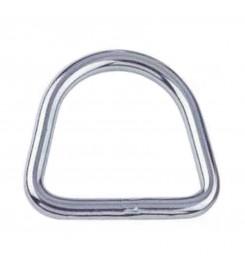 RVS D-ring 40 mm