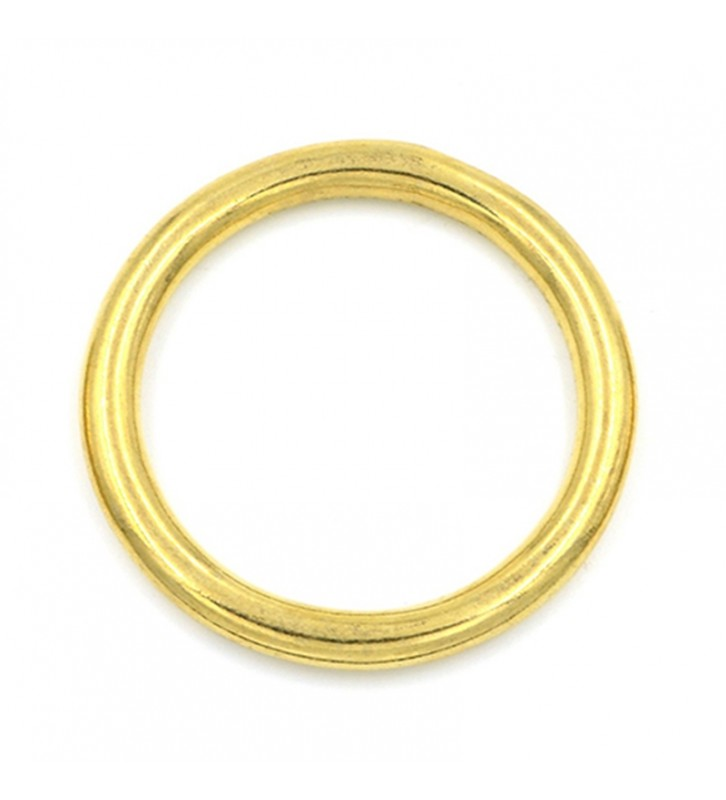 Ronde ring messing 19 x 4 mm