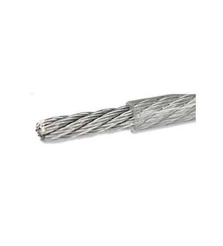 Geplastificeerd Rvs staaldraad 1/1,5 mm per 10 meter