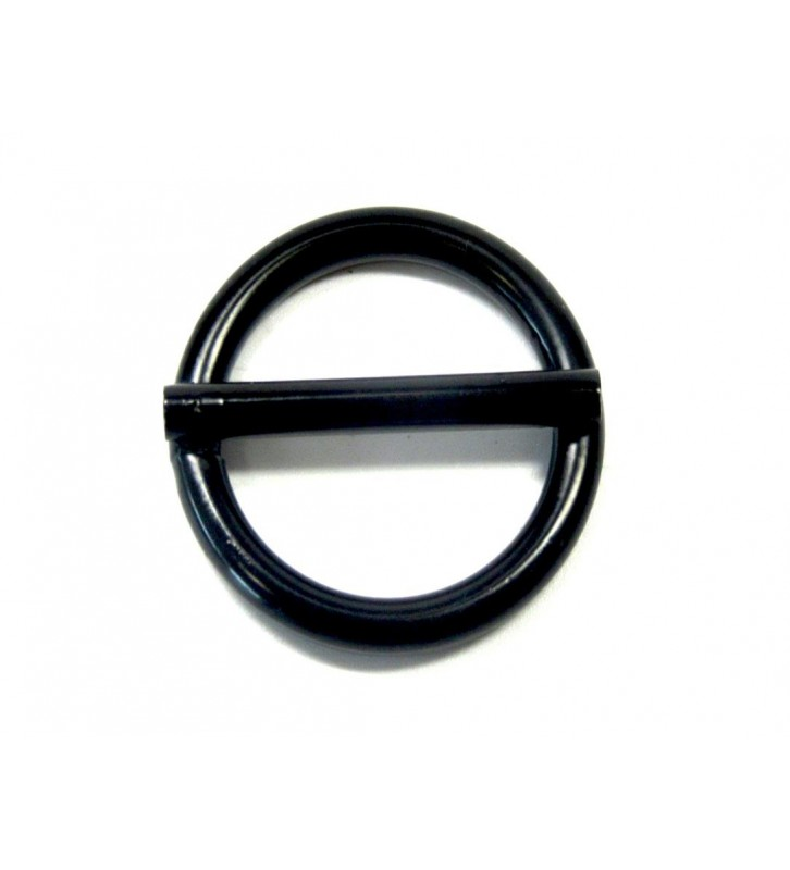 Ring met pin zwart 25 mm